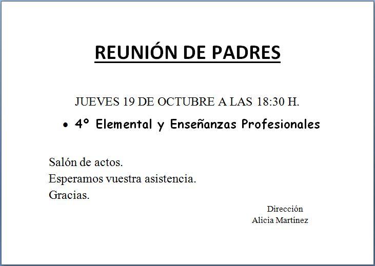 reunión 4º y ens. prof. 17-18