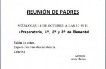 reunión prep 1, 2, 3 17-18